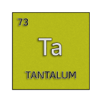 Color element cell for tantalum.