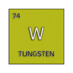 Color element cell for tungsten.