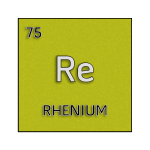 Color element cell for rhenium.