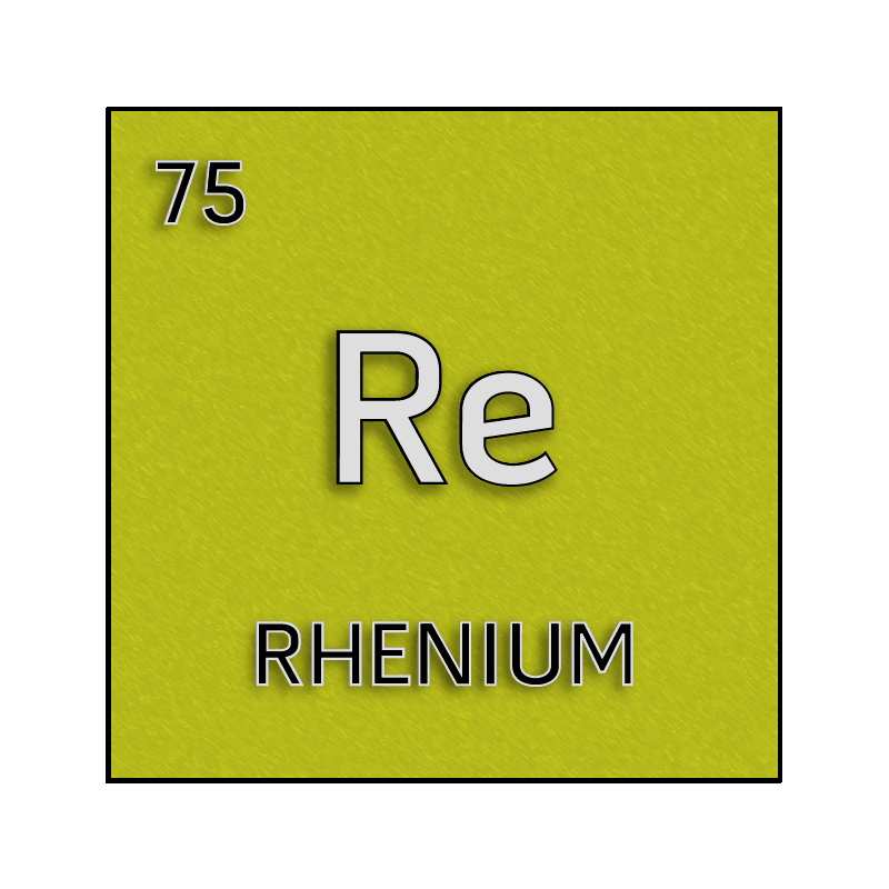 Color element cell for rhenium. - Science Notes and Projects