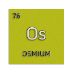Color element cell for osmium.