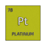Color element cell for platinum.