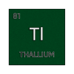 Color element cell for thallium.