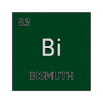 Color element cell for bismuth.