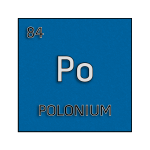 Color element cell for polonium.