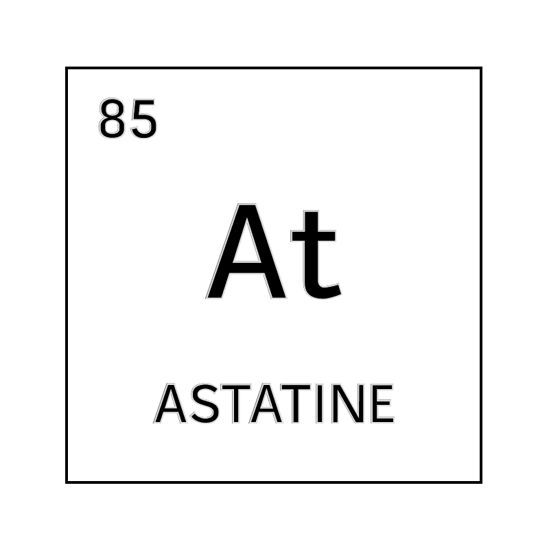 Black and white element cell for astatine. - Science Notes ...