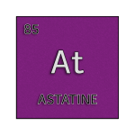 Color element cell for astatine.