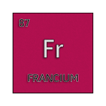 Color element cell for francium.