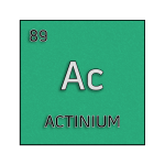 Color element cell for actinium.
