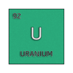 Color element cell for uranium.