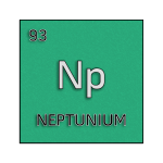 Color element cell for neptunium.