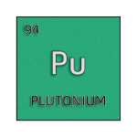 Color element cell for plutonium.