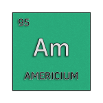 Color element cell for americium.