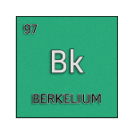 Color element cell for berkelium.