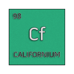 Color element cell for californium.