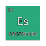 Color element cell for einsteinium.