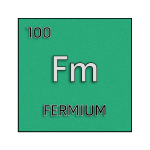 Color element cell for fermium.