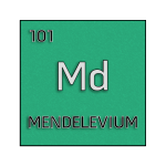 Color element cell for mendelevium.