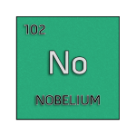 Color element cell for nobelium.