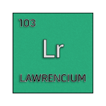Color element cell for lawrencium.