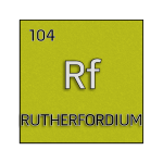 Color element cell for rutherfordium.
