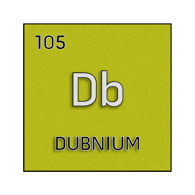 Color element cell for dubnium science notes and projects for 105 periodic table