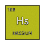 Color element cell for hassium.