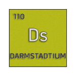 Color element cell for darmstadtium.