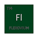 Color element cell for flerovium.