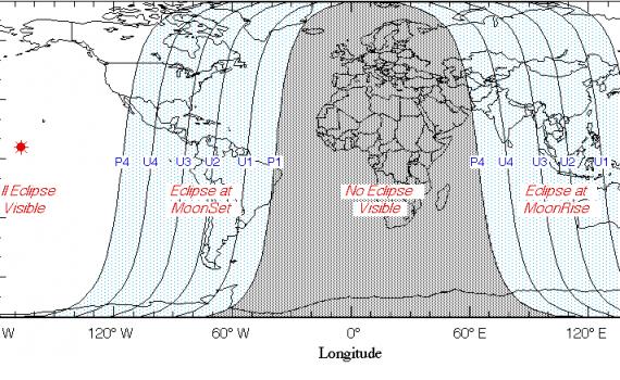 Visibility Lunar Eclipse 2014 10-08