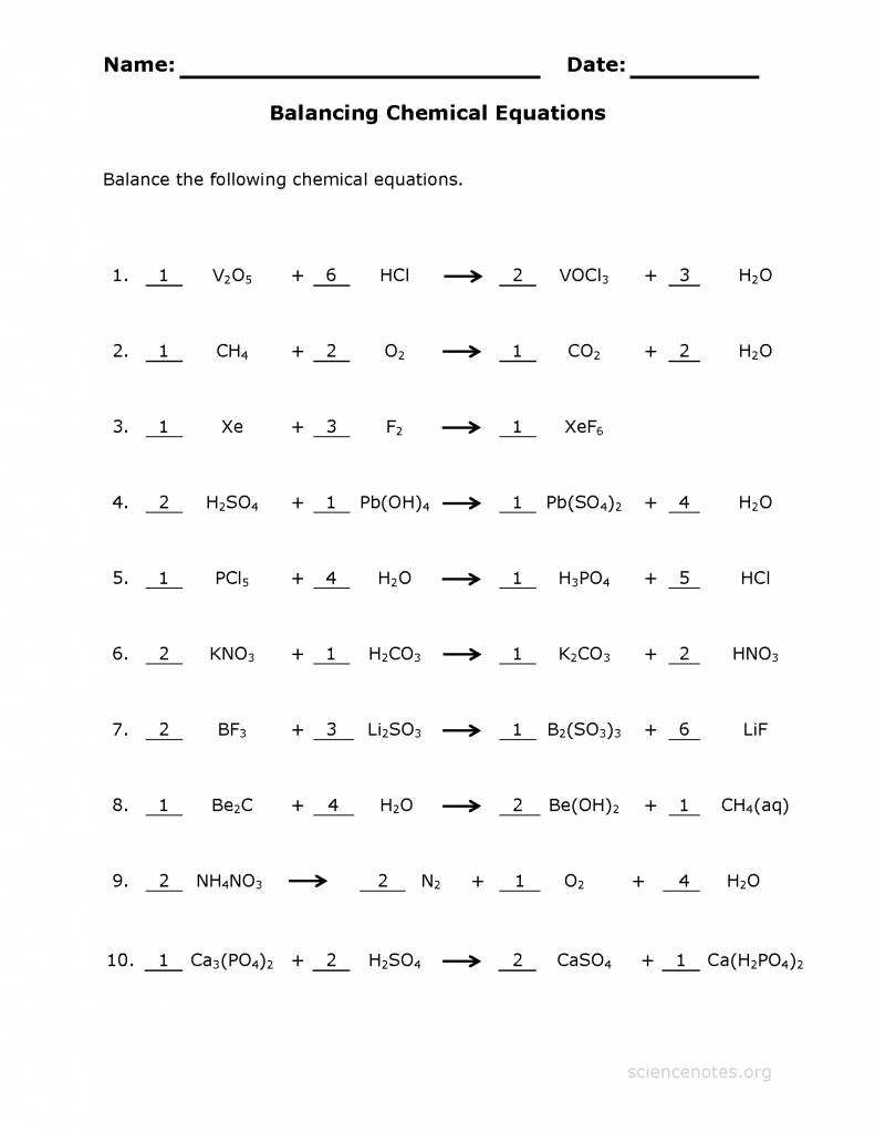 Printables Biochemistry Worksheet biochemistry worksheet abitlikethis balance chemical equations 3 answer key