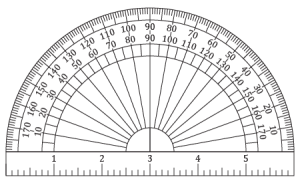 Printable Protractor and Ruler