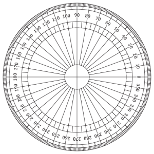 Resource image in printable protractor 360