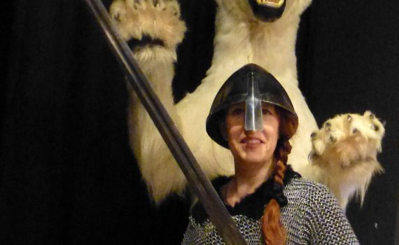 Viking at the Saga Museum in Reykjavik