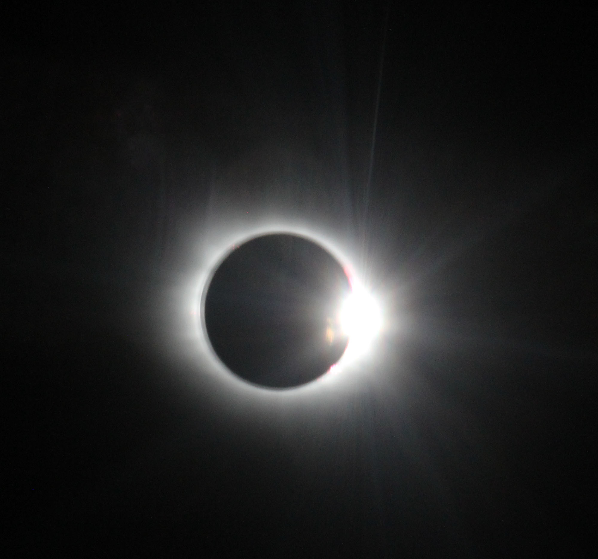 Total Solar Eclipse from the Air