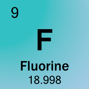 Periodic table element cards element cell for 09 fluorine urtaz Image collections