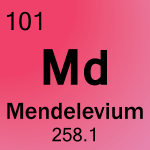 Element cell for 101-Mendelevium