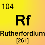 Element cell for 104-Rutherfordium