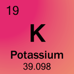 Element cell for 19-Potassium