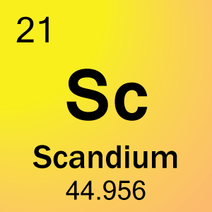 21 Scandium Tile 2 on Printable Periodic Table