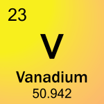 Element cell for 23-Vanadium