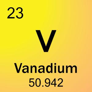 Periodic table element cards element cell for 23 vanadium urtaz Choice Image