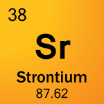 Element cell for 38-Strontium