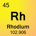 Element cell for 45-Rhodium