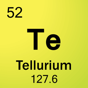 52 tellurium element cell science notes and projects