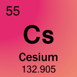 Element cell for 55-Cesium