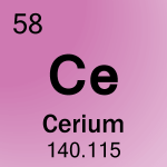 Element cell for 58-Cerium