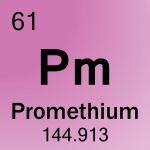 Element cell for 61-Promethium