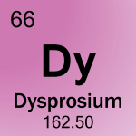 Element cell for 66-Dysprosium
