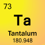 Element cell for 73-Tantalum